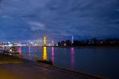 Düsseldorf Rheinturm bei Nacht (Photoshop)