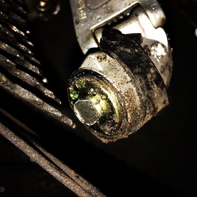 Foto - Was ist das? ...................Antwort: Meine gebrochene Fahrradgangschaltung :( Wie komme ich denn jetzt morgen zur Arbeit?